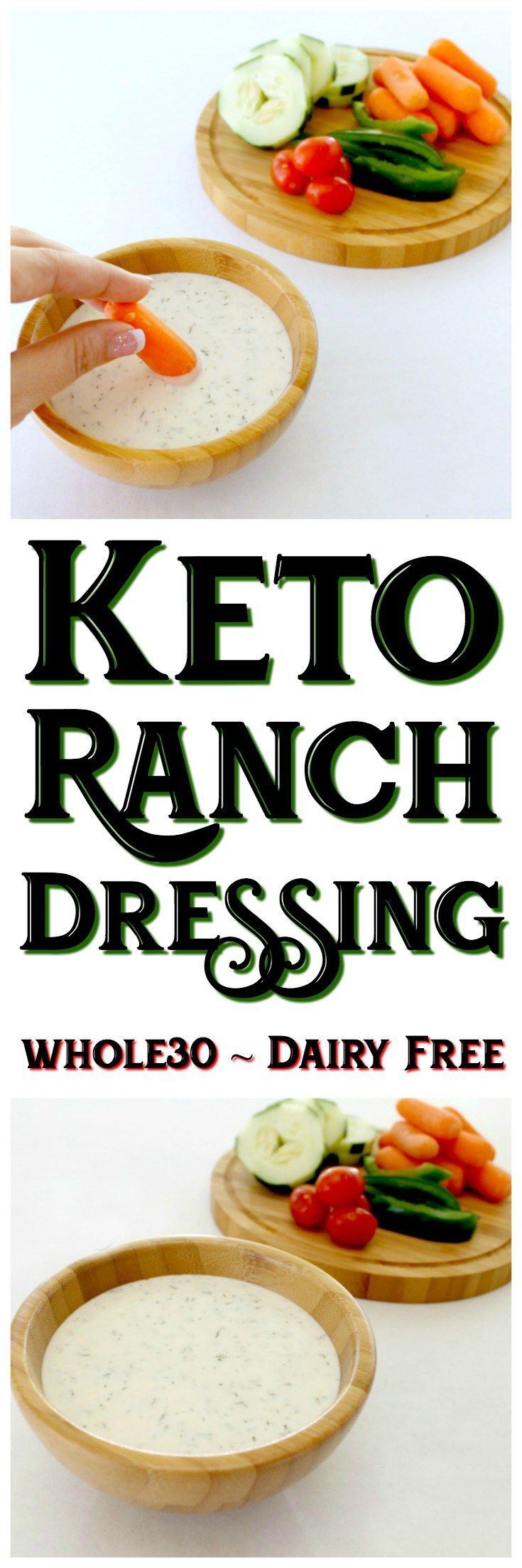 This Whole30 Compliant Ranch Dressing is Keto Friendly too! Simple ingredients and delicious flavor!