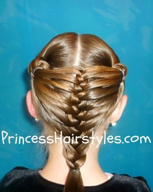 Another amazing hairstyle from Princess Hair. Full video instructions!!!! Mermaid fin braid