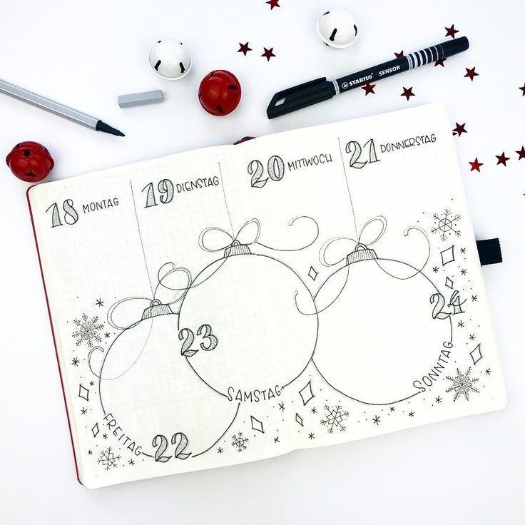 Meine aktuelle (Weihnachts)woche Nicht mehr langeeee! Ich freu mich schon so! Au… – Bullet Journal minimalistisch – #aktuelle #Bullet #freu #Ich #jo…