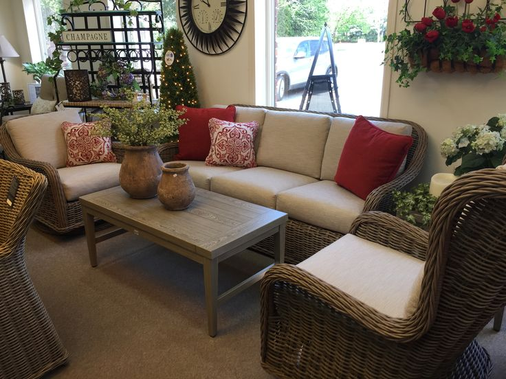 Ebel Wicker Sofa, Coffee Table And Club Chairs. Outdoor Living, Driftwood  Wicker,