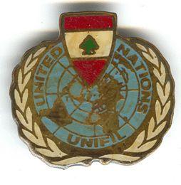 UNITED NATIONS UNIFIL (drapeau du Liban)