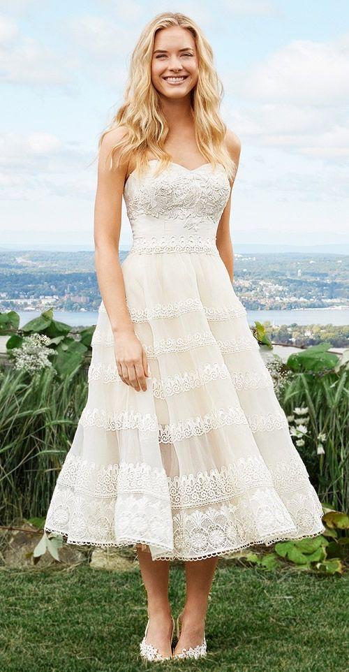 1000 ideas about tea length wedding on pinterest tea for Winter tea length wedding dresses