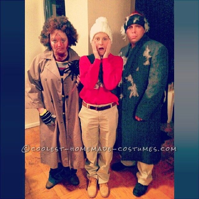 home alone group costume kevin and the wet bandits - Easy Halloween Costumes From Home