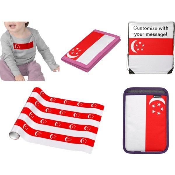 """Flag of Singapore gifts on Zazzle!"" by dww25921 on Polyvore  http://www.zazzle.com/flagsbydww25921*  #flag #global #zazzle"