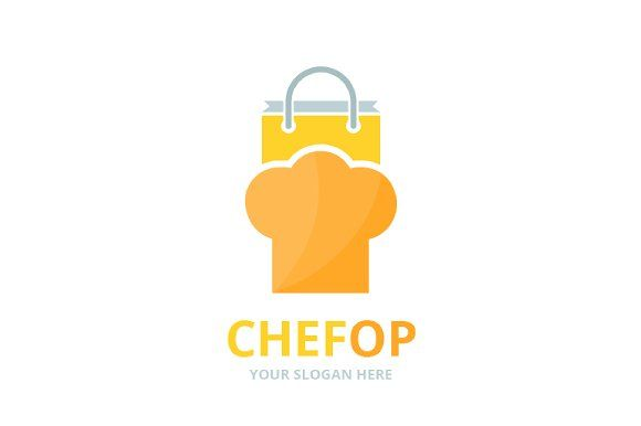 Vector Chef Hat And Shop Logo Shop Logo Professional Logo Design Logotype Design