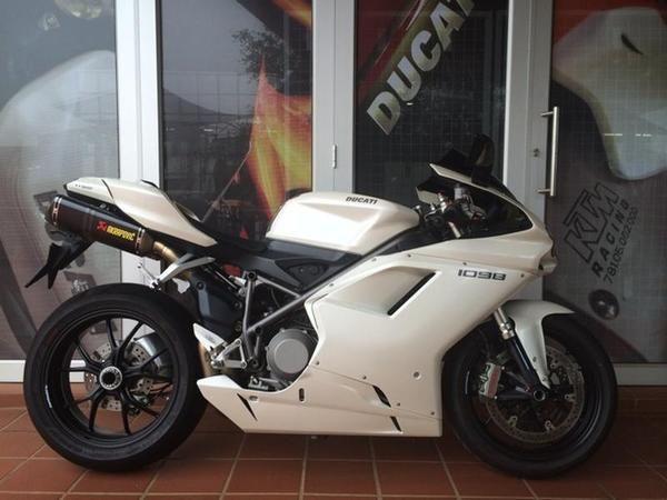 2009 DUCATI 1098 Pearl White R 130,000 for sale | Bike Trader