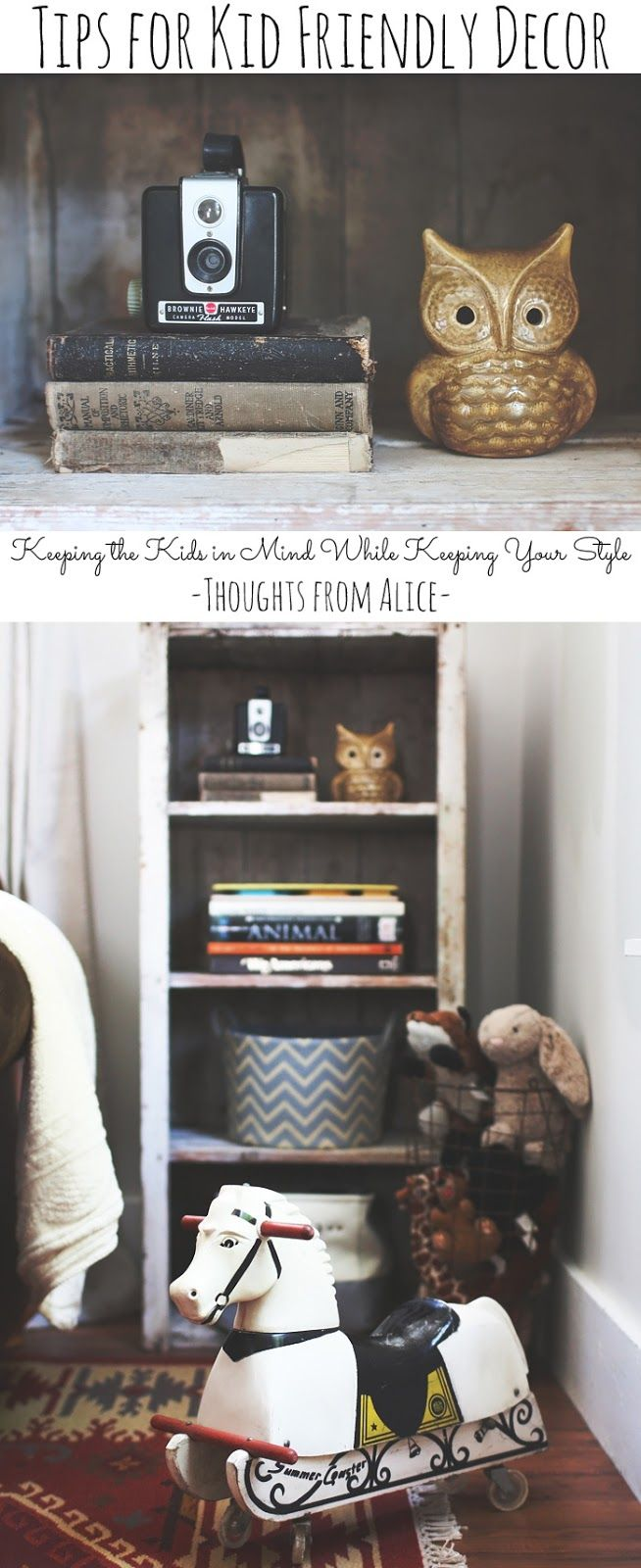 Struggle with keeping your personal decorating style with young kids in the home? Check out these 5 Tips for Kid Friendly Decor!