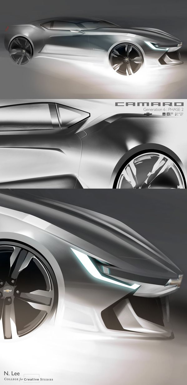 Camaro : Generation 6 on Behance  Now THIS is a piece of art that I swear I can't wait for. Well done Chevy, well done.