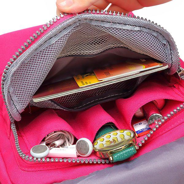 Women Nylon Travel Passport Bag Crossbody Travel Bag Useful Shoulder Bag - US$17.99