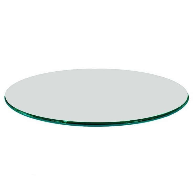 Fab Glass and Mirror Round 0.75 in. Thick Ogee Polish Tempered Glass Table Top - T-48RD19MMOGTE