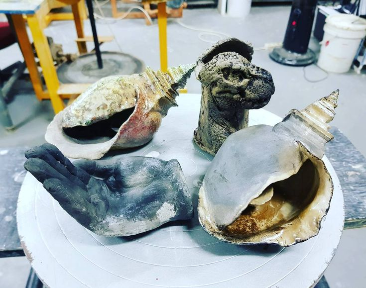Some of the raku firing results todat at UPH.