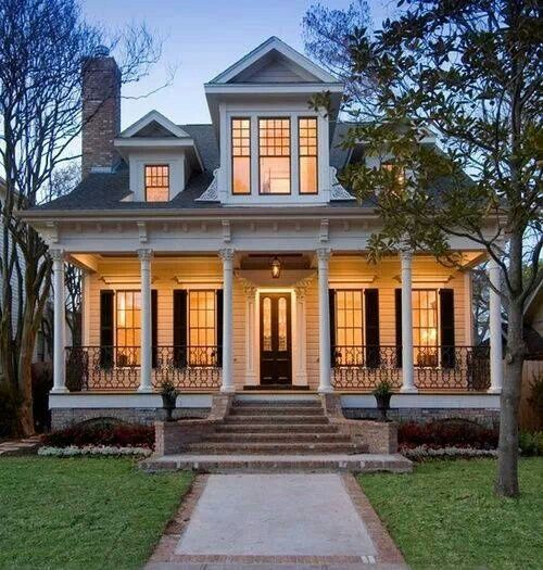 Classic Decorating Ideas For Plantation Style Homes: Front Porch Brick Steps