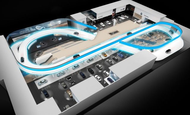 Die gebaute Ikone:  BMW Messeauftritt auf der IAA 2013. #Mutabor #BMW #Markenarchitektur #corporate #architecture #brand #spaces