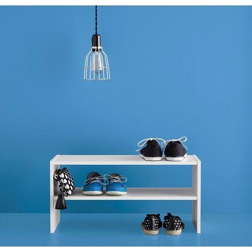 "24"" Stackable Shoe Rack - White - Room Essentials™ : Target"