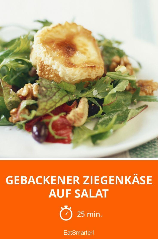 Gebackener Ziegenkäse auf Salat - smarter - Zeit: 25 Min. | eatsmarter.de