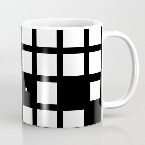 Black and white minimal squares Mug by SiwaBudda | #society6