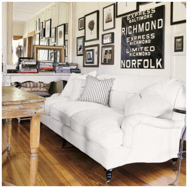 White Fabric English Roll Arm Sofa With Pillow Cushion
