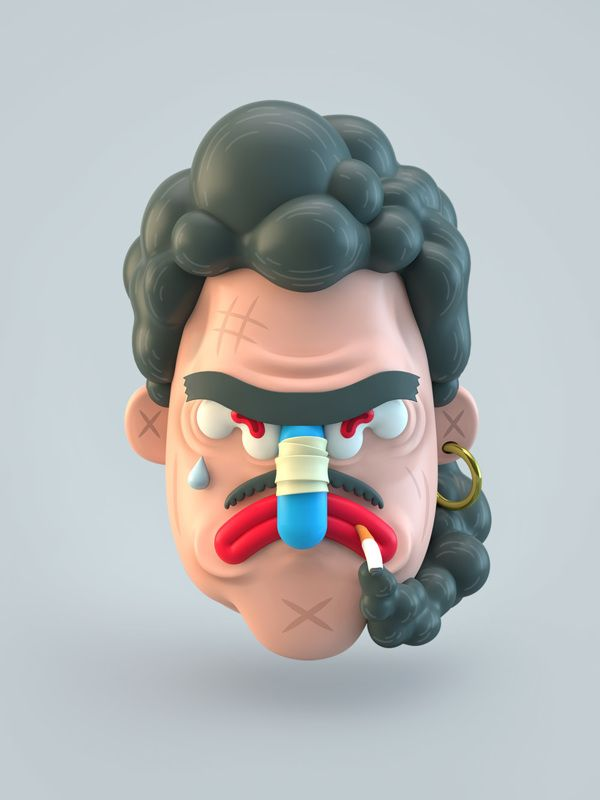 3D Illustrations by El Grand Chamaco on Behance
