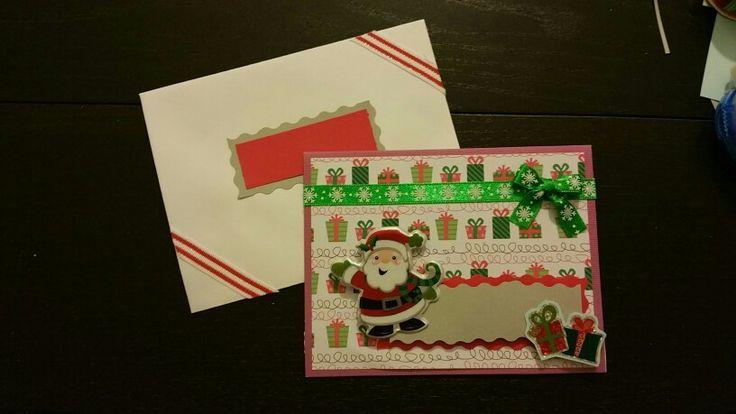 Holiday card 2015 - smiley santa