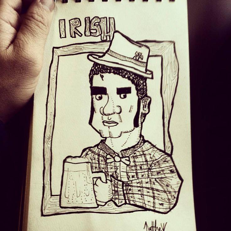 """""""Irish"""" Marco Manni 1^ anno di grafica"""