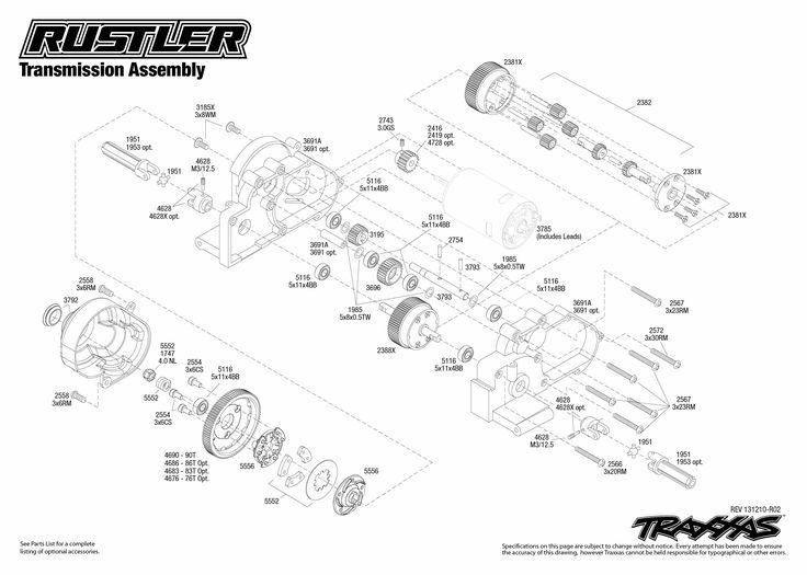 rc car parts diagram