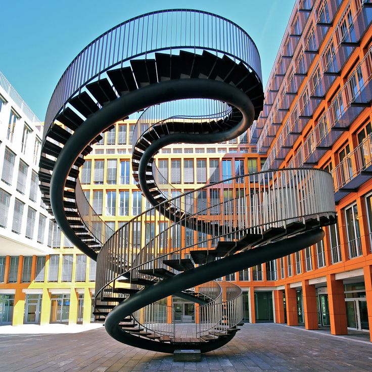 infinity spiral staircase: goes nowhere // KPMG Building, Munich