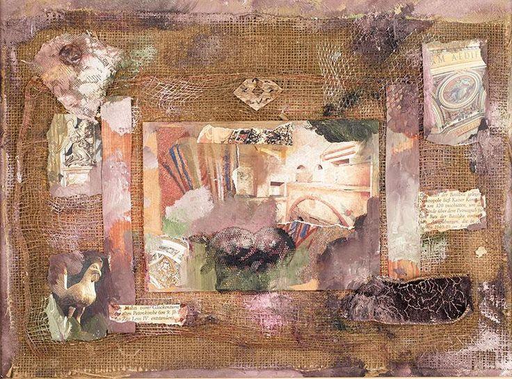 Władysław Hasior - Bez tytułu, 1990 r. kolaż, 29 × 39 cm w świetle oprawy sygn. i dat. na odwrocie: HasiorW/ 20.IV.1990