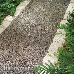 Planning a Backyard Path: Gravel Paths A garden path enhances any backyard. Learn about design factors, limitations and installation techniques for gravel, stone, brick and pavers, along with attractive edging options.