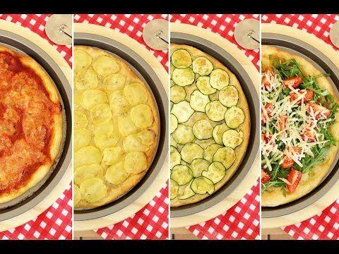 Pizza fatta in casa: 4 IDEE   impasto pizza + 4 idee per farcirla