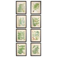 Framed Fern Prints, Set of 8 - Black Frame