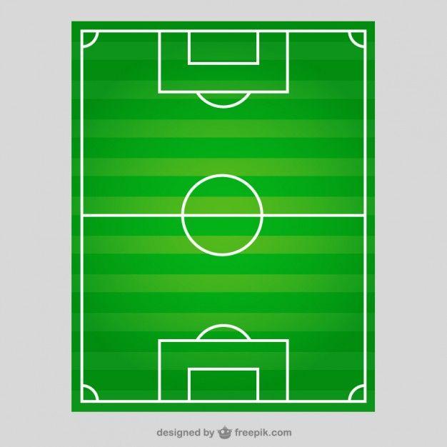 Campo de fútbol en la vista superior Vector Gratis