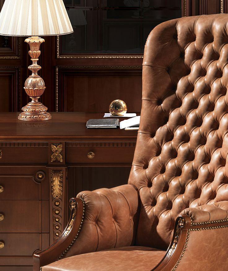 Italian luxury leather armchair