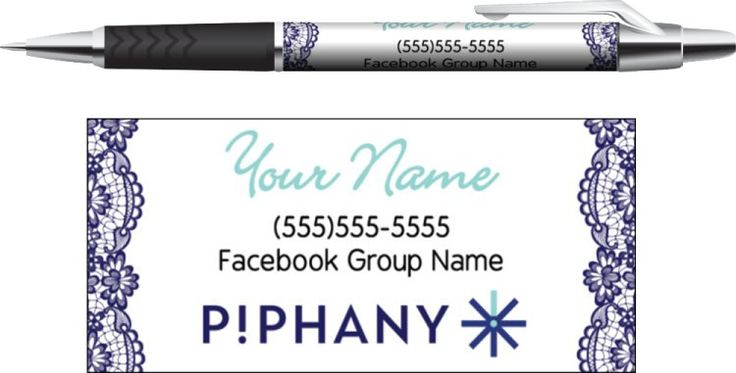 Piphany Business Pens - Blue Lace- Digital or Printed- Kakaodesigns.com