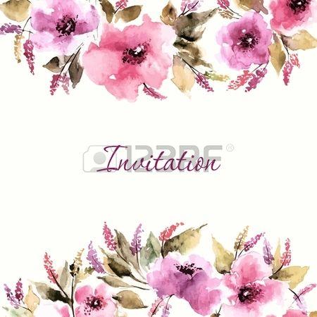 Birthday Floral Card Wedding Invitation Floral