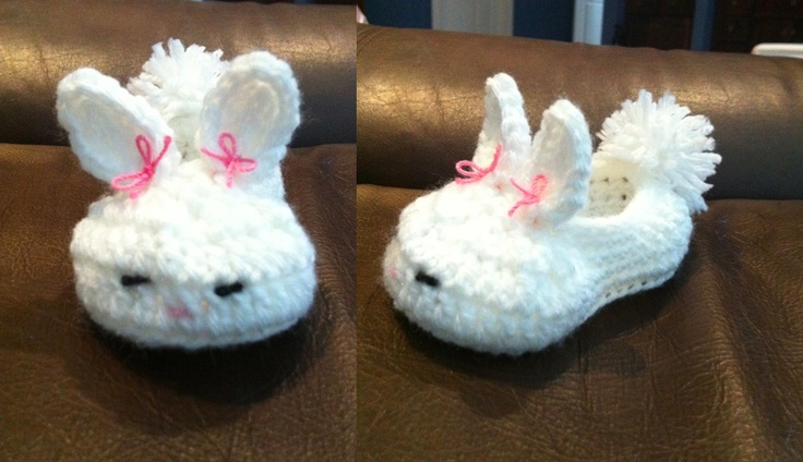 my first attempt at the bunny slippers. I purchased the pattern at Twogirlspatterns.etsy.com
