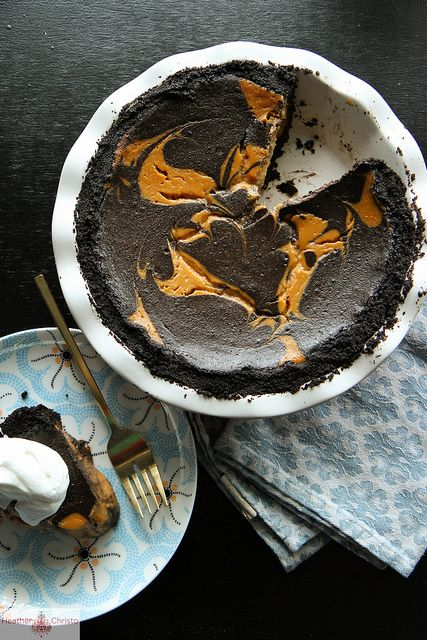 Chocolate Pumpkin Pie by Heather Christo, OH MY!!   Making this for thanksgiving!!!   I will let you know how it turns out