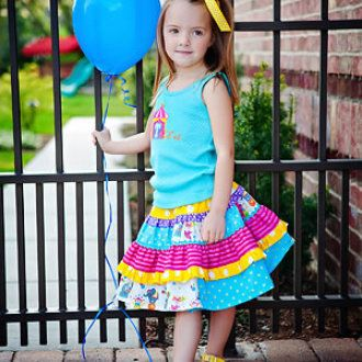 The Bella Twirl Skirt- Sizes 1-6 | YouCanMakeThis.com