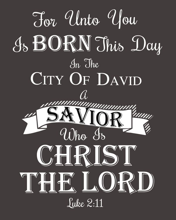 Christmas Bible Verse Printable - Luke 2:11