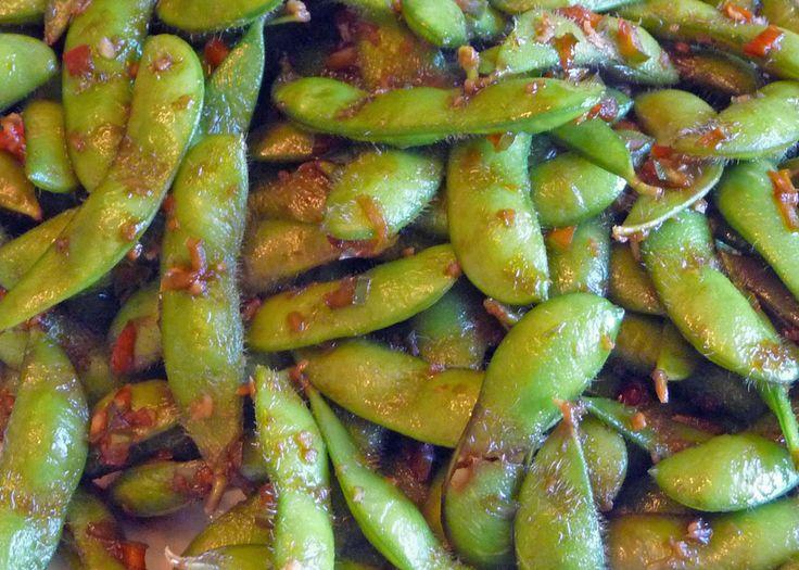 Stir-Fried Edamame w Garlic, Chili & Ginger (c) jfhaugen@gmail.com