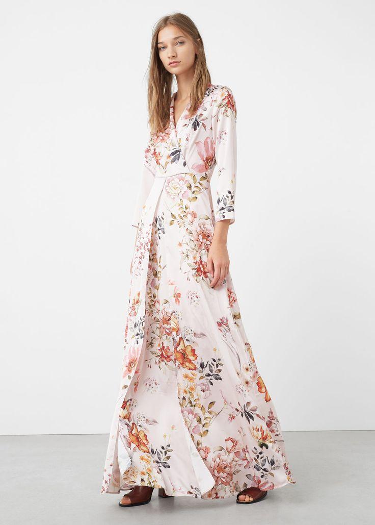 Vestido Largo Floral Mng Vestidos Pinterest