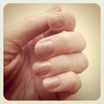pastel chevron nails