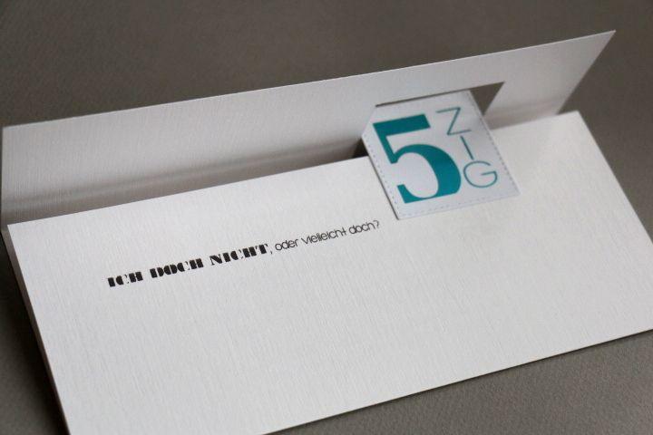 Einladung 5zig 50. Geburtstag deco-foil
