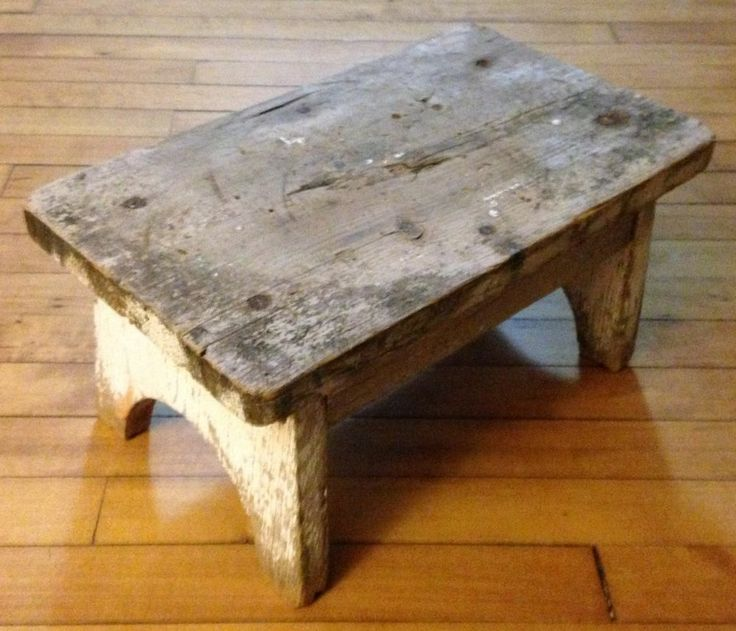 Rustic Amp Primitive Small Old Vintage Wood Wooden Milking