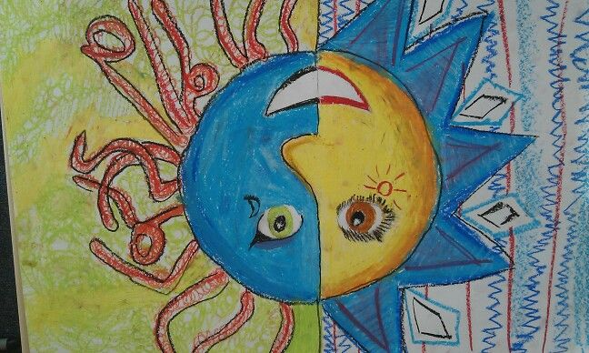 Tekenopdracht Azteekse zon