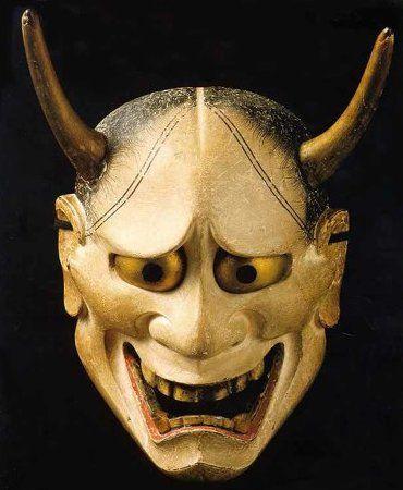 Noh Oni mask