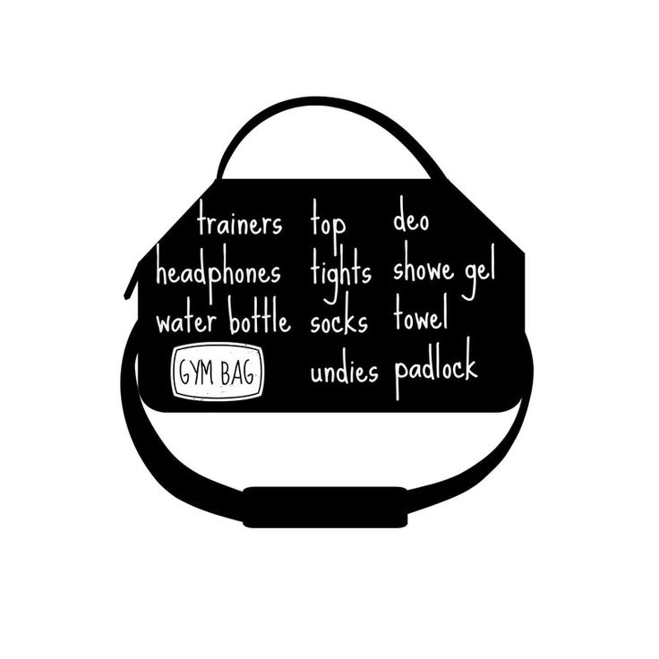Picture- A little reminder note, why not keep it in the gym bag? self help