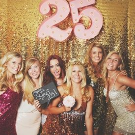 A glitter themed birthday party photobooth with a tutorial on making the marquee numbers!