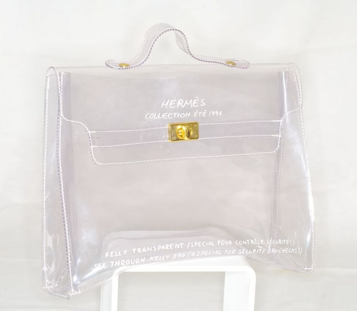 Hermès collection été 1996 - Kelly transparent / Spécial pour contrôle sécurité !: 1996 Hermes, Hermes Clear, Bags ️, Hermes 1996, Kelly Transparent, Hermes Kelly, Hermes Transparent