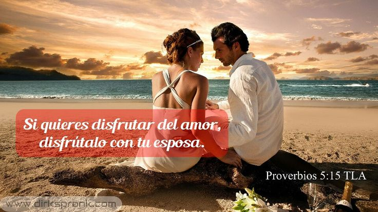 Si quieres #disfrutar del #amor, disfrútalo con tu #esposa. ¡Guarda tu amor sólo para ella! ¡No se lo des a ninguna otra! No compartas con nadie el #gozo de tu #matrimonio. ¡Bendita sea tu esposa, la #novia de tu juventud!  Es como una linda venadita; deja que su amor y sus caricias te hagan #siempre #feliz. #Proverbios 5:15-19 TLA