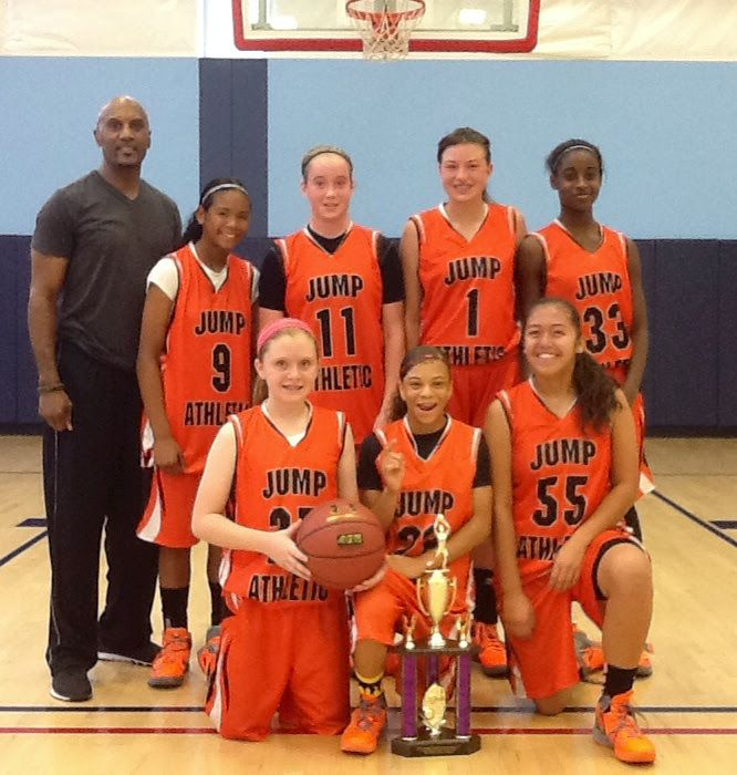 JUMP ATHLETIC GIRLS 8TH GRADE CHAMPIONS - Jump Athletic added yet another trophy to its trophy case with a 42-37 victory over Team Legacy in the championship. #jumpathletic
